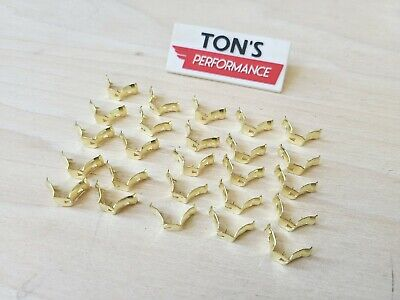 Bag of 25 Brass Spark Plug wire ends Terminal Ends Clips Fit in Wico Mags 7mm