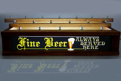COLOR LED WALNUT FINISH 18  beer tap handle display fine beer bar sign