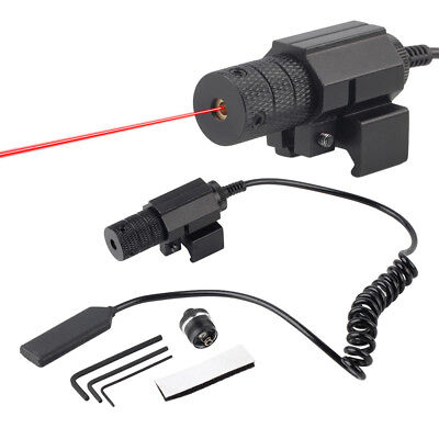 La caza Tactical laser rojo vista con TAIL Switch interruptor remoto alcance