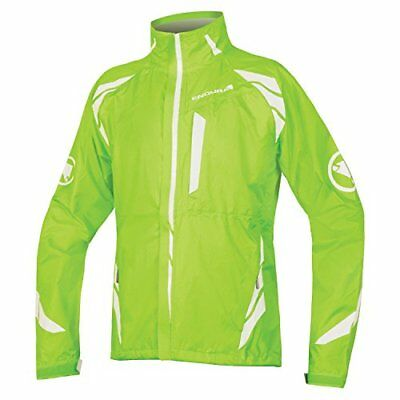 Endura Men's Luminite II Cycling Jacket (Hi-Vis Green / (XL) X-Large)