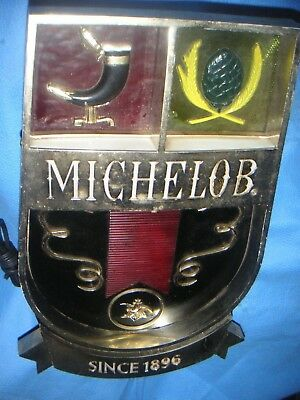 "Vintage Michelob ""Since 1896""  Lighted Beer Sign RARE BAR Electric Antique"