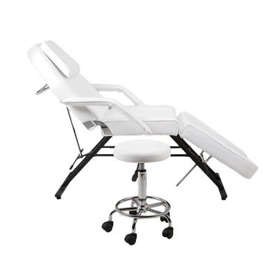 Beauty Salon Recliner Chair Massage Table Tattoo Facial Therapy Couch Bed +Stool