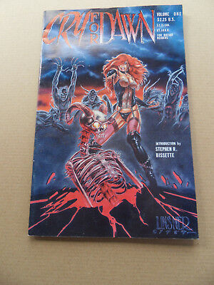 Cry For Dawn 1 . (vol 1) 1st Print . HTF  (B & W Mature) . CFD Prod. 1989 . VG +