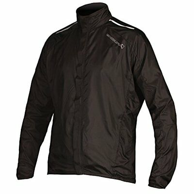 Endura Pakajak Ultra Packable Showerproof Cycling Jacket (Black / (L) Large)