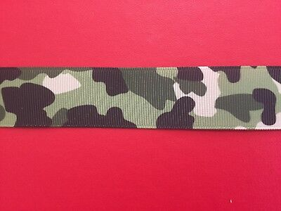 CAMOUFLAGE Grosgrain RIBBON 1Mtr X 25mm For Craft Hair Gifts Cakes