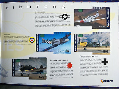 Mint 1997 Classic Fighters Phonecard Pack Limited Edition 2500 Issued