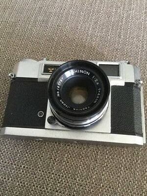 Vintage Yashica 35mm Film Camera In Leather Case