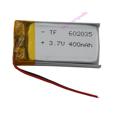 3.7V 400 mAh rechargeable Polymer Li battery For Mp3 GPS bluetooth Watch 602035
