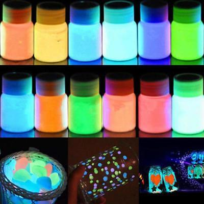 20g Peinture Lumineuse Acrylique Bright Pigment Party Décoration Glow in Dark EH