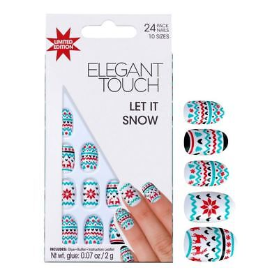 ELEGANT TOUCH FAUX ONGLES - Let It neige Noël Hiver (24 ongles)