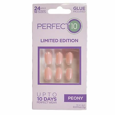 Perfect 10 faux ongles - PEONY ovale (24 ongles)