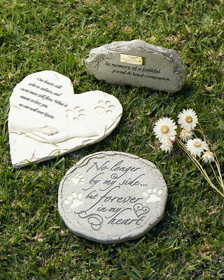 Pet memorial garden stone or grave marker. Cat dog guinea pig horse bird reptile
