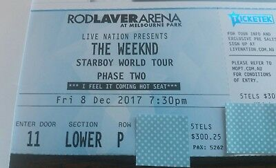 The Weeknd V.I.P Ticket - MELBOURNE 8th DEC