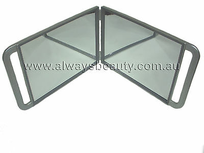 Hairdressing Double Mirror with Hinge for Hair Beauty Salon Make Up Studio