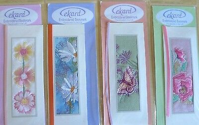 36 floral bookmarks embroidered & handmade in UK £22
