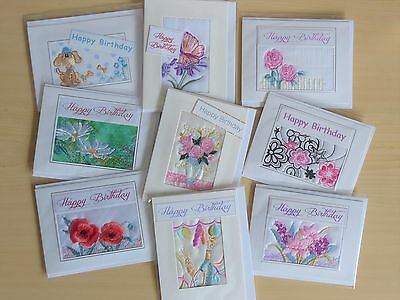 Embroidered cards pack of 60 mix £24 ideal for craft fair, retailers, fundraiser
