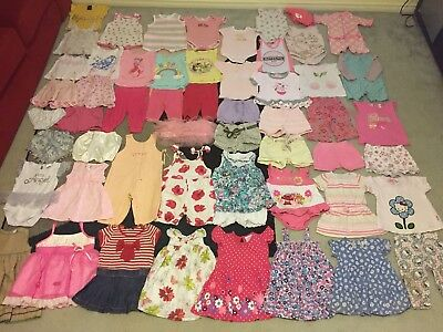 Bulk lot baby girls sz 0 summer clothes bathers pjs patch mango target dymples