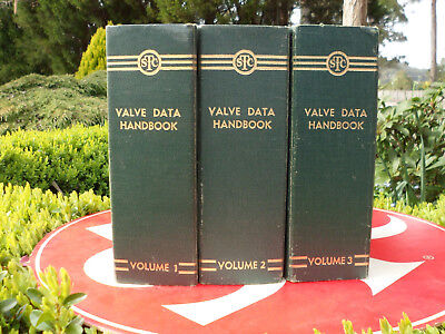 S T C valve data handbooks Set of 1, 2 and 3