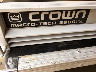 Crown Macro Tech 3600 Vz Amplificateur
