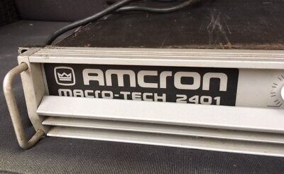 Amcron Crown Macro Tech 2401 Amplificateur