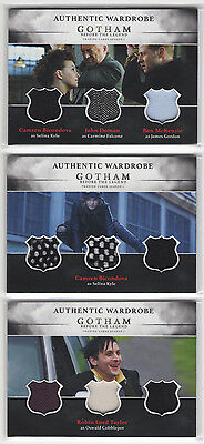 2016 Cryptozoic GOTHAM Season 1 Full Set of 3 Triple Wardrobe Cards TM1 TM2 TM3