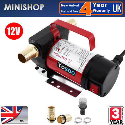 12V 160W Portable Fuel Diesel Oil Kerosene Transfer Pump Self Priming 50L/Min UK