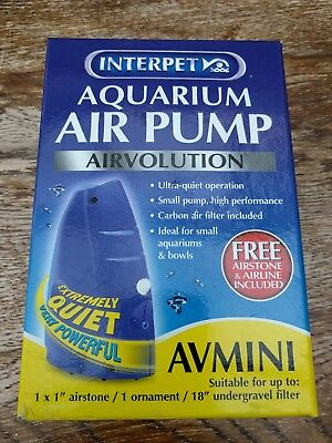interpet avmini aquarium air pump