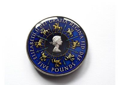Enamelled Coin 1993 Five Pounds