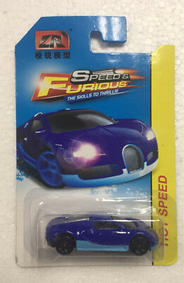 1:64 Hot Wheels Cars Toy Fast and the Furious BUGATTI-BLUE