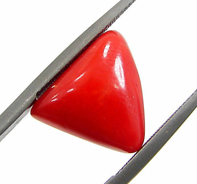 4.25 Ct Certified Natural Red Coral Loose Gemstone Triangle Stone - 130558