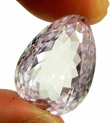 25.82 Ct Certified Natural Pink Kunzite Loose Pear Gemstone Stone - 130483