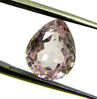 3.10 Ct Certified Natural Pink Kunzite Loose Pear Gemstone Stone - 130496