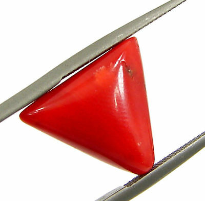 5.43 Ct Certified Natural Red Coral Loose Gemstone Triangle Stone - 130523