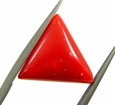 4.90 Ct Certified Natural Red Coral Loose Gemstone Triangle Stone - 130521