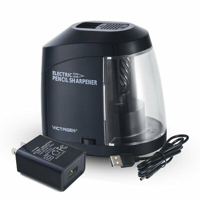 Victagen Electric USB Pencil Sharpener AC Adapter or Battery Operated Heavy D...