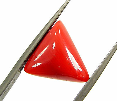 4.35 Ct Certified Natural Red Coral Loose Gemstone Triangle Stone - 130543