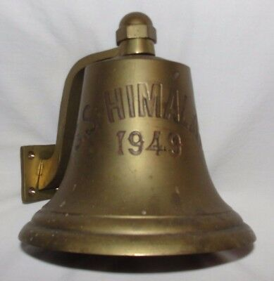 Solid Brass 1949 SS Himalaya ship's bell great shape
