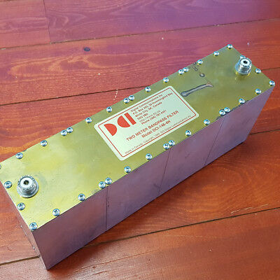 DCI-146-4H Two Meter 4 MHz Wide 4 Pole Bandpass Filter, 200 Watts, 144-148 MHz