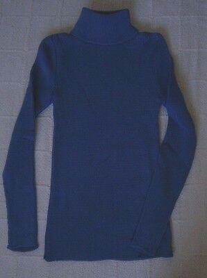 Vintage Ladybird Ribbed Polo-Neck Sweater - Age 12 - Slate Blue- Acrylic - New