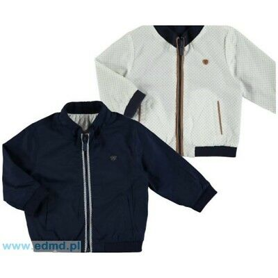 Designer MAYORAL Baby Boys Reversible Jacket Navy/White 9 months WAS £35 NOW £17