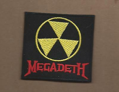 New 2 7/8 X 3 Inch Megadeth Iron On Patch Free Shipping
