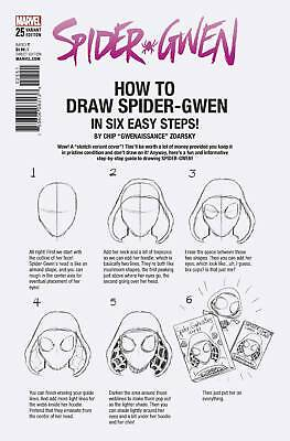 Spider-Gwen #25 (2017) 1St Print Zdarsky How To Draw Variant Cover Legacy Tie-In