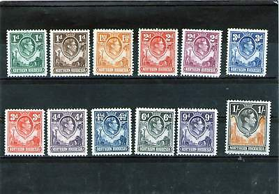 Northern Rhodesia King George V1 Mint Stamps Part Set 1938