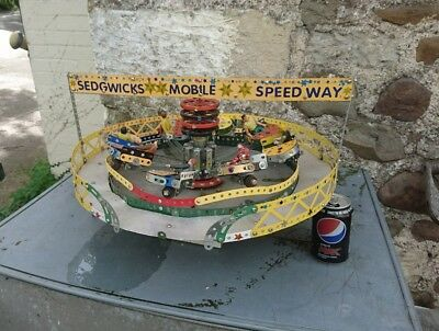 Vintage Meccano Steam Powered Fairground Ride.