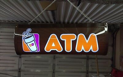 Dunkin Donuts Lighted ATM Sign