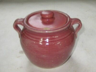 905-1Un Uhl Pottery Maroon  Cream And Sugar, Stamped On The Base