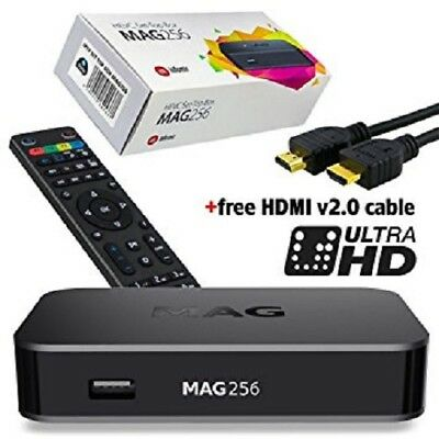 MAG 256 HEVC H.265 HD IPTV Set Top Box - IPTV Receiver OTT Faster than MAG 254