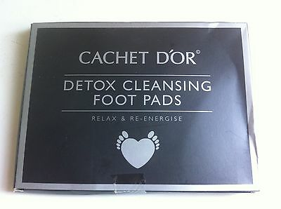 5 Pairs Of Cachet D`OR Cleansing Detox Foot Patches Removes Toxins
