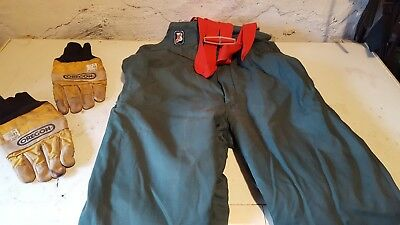 chainsaw trousers oregon gloves and boots