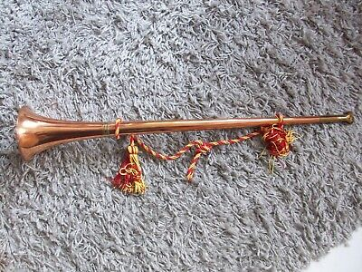 Copper hunting horn